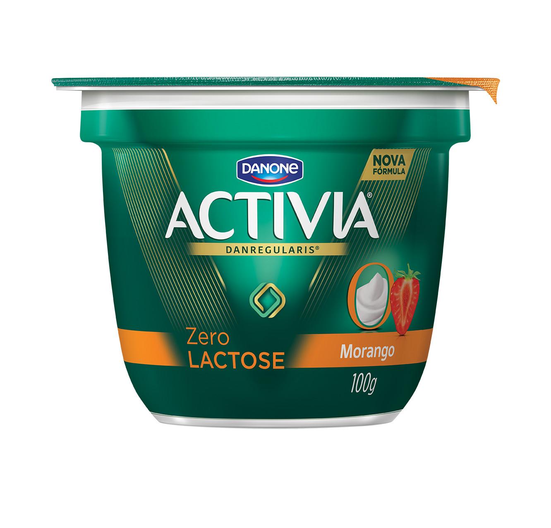 Iogurte zero lactose copo morango Activia 100g