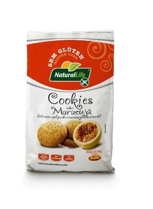 Cookies sabor maracujá sem glúten Natural Life 180g