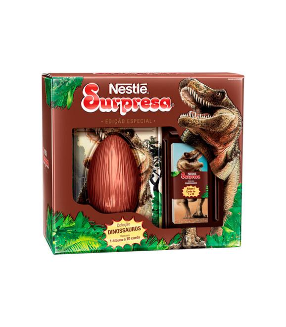 Ovo de Páscoa surpresa coleção Dinossauros c/ albúm Nestlé 150g