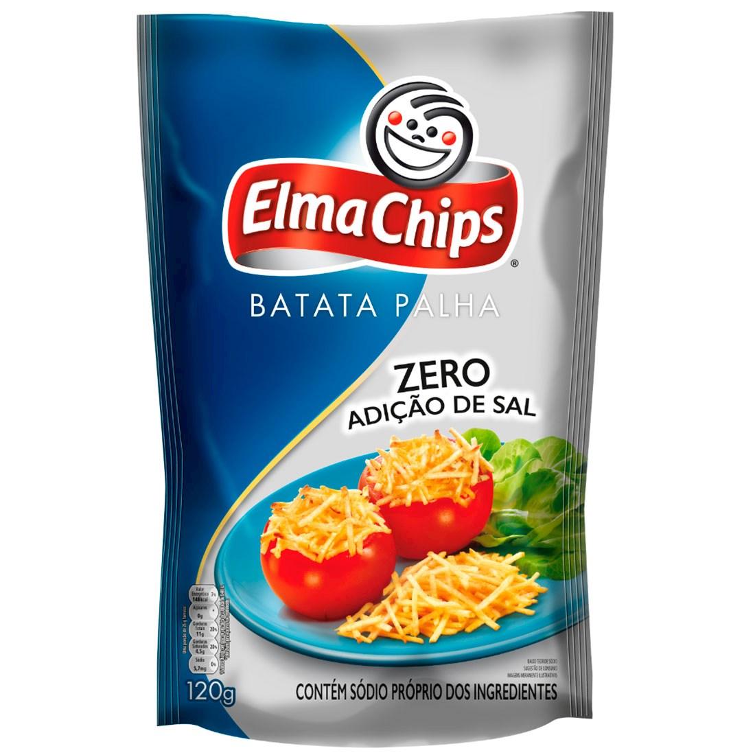 Batata palha zero adição de sal Elma Chips 120g.