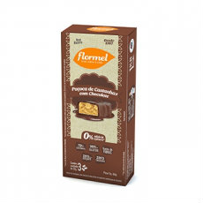 Paçoca de castanhas com chocolate zero adição de açúcar  Flormel 75g