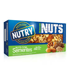 Barra de cereal mix nuts sementes Nutry 2x30g