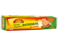 Biscoito cream cracker Integral sem lactose Liane 200g