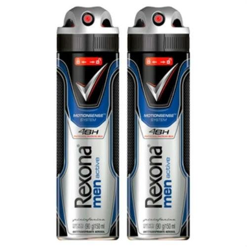Desodorante aerosol Rexona Men Active Dry 150ml (pacote 2 unid)