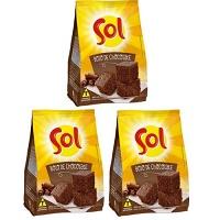 Mistura para bolo de chocolate Sol 400g.(pacote c/ 3 unid.)