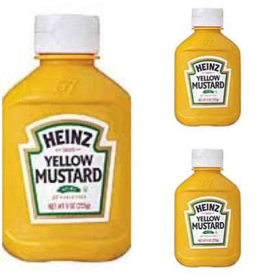 Mostarda americana Heinz 250g. (pacote c/ 3 unid.)