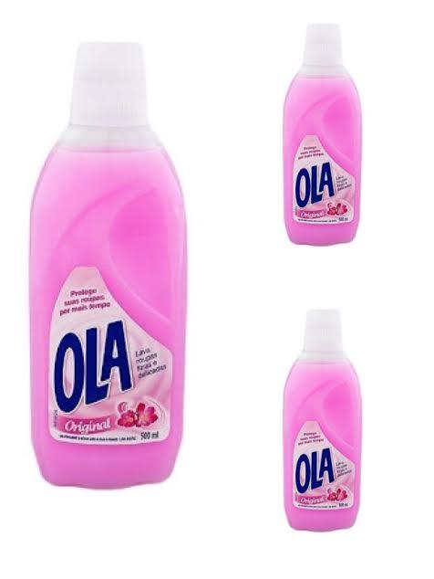 Lava roupas finas e delicadas Ola original 500 ml.(pacote c/ 3 unid.)