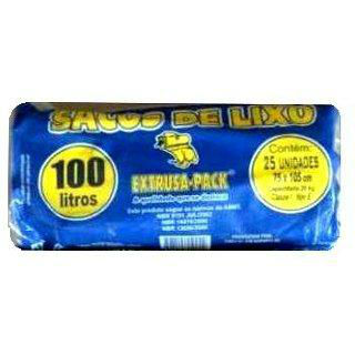 Saco azul para lixo extrusa pack rolo 100lts./20kg.