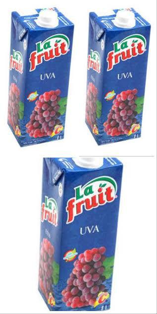 Suco pronto de uva La Fruit 1lt. (pacote c/3 unid.)