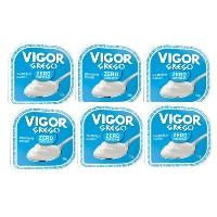 Iogurte Grego tradicional zero Vigor 100g. (pacote c/6 unid.)