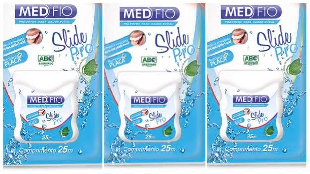 Fio dental Medfio 50 mts (pacote c/3 unid.)