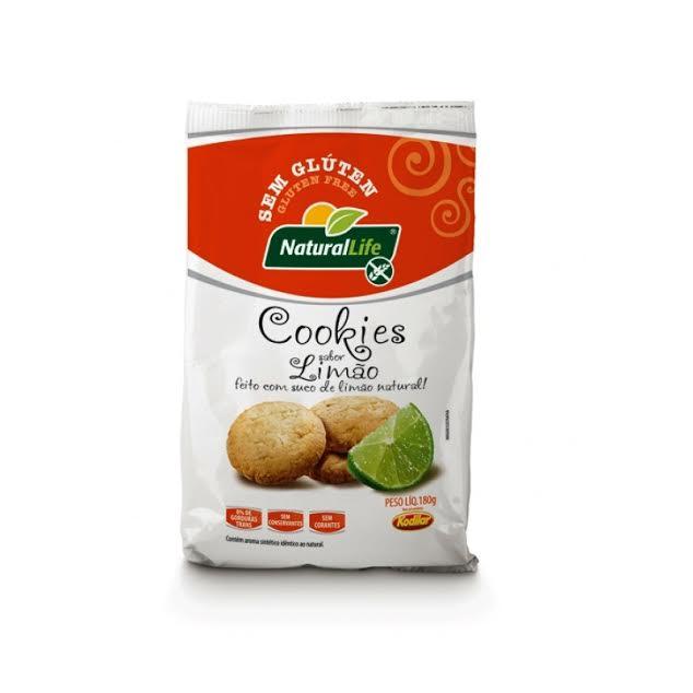 Cookies sabor limão sem glúten Natural Life 180g