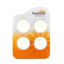 Anador Dipirona Sódica 500mg. cartela c/ 4 comprimidos
