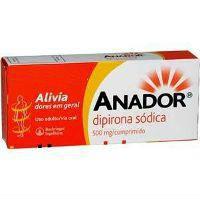 Anador Dipirona Sódica 500mg. (cx. 128 compr.) 32x4