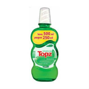 Anti séptico bucal Topz menta 500ml.