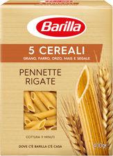 Massa Pennette Rigate trigo, espelta, cevada milho e centeio (5 CEREALI) Barilla 400g