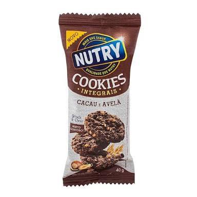 Cookies integrais cacau e avelã Nutry 40g