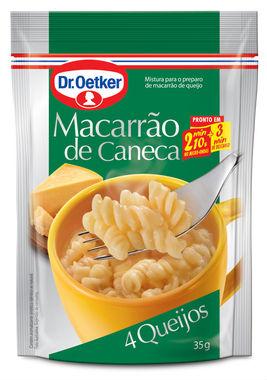 Macarrão de caneca sabor quatro queijos Dr. Oetker 35g