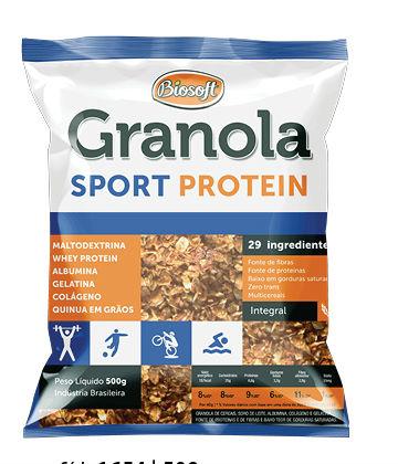 Granola sport protein Biosoft 500g