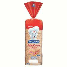 Pão integral sem casca Pullman 450g