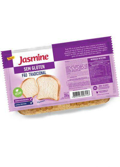 Pão fatiado sem glúten Jasmine 350g