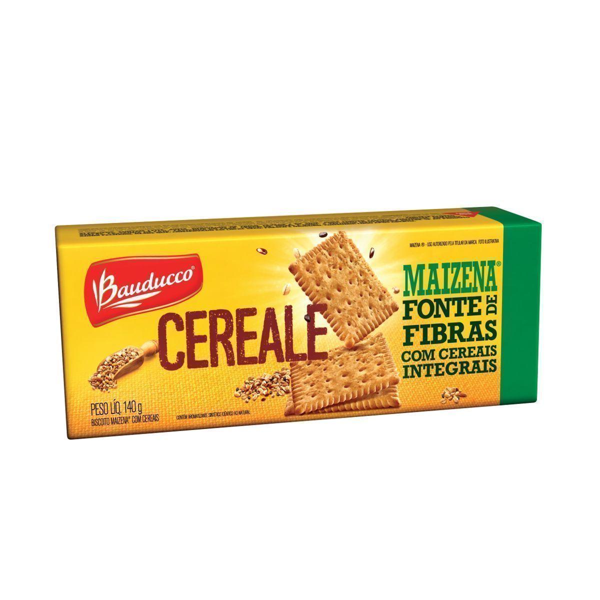 Biscoito Cereale Maizena c/ fibras integrais Bauducco 140g