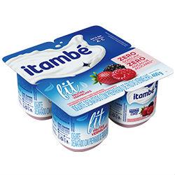 Iogurte fit zero pedaços frutas vermelhas Itambé 4x100g