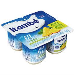 Iogurte fit zero pedaços abacaxi c/ hortelã Itambé 4x100g