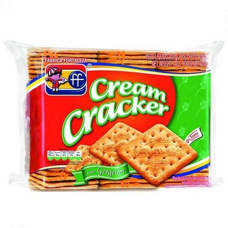 Biscoito cream cracker c/ gergelim Fortaleza 400g