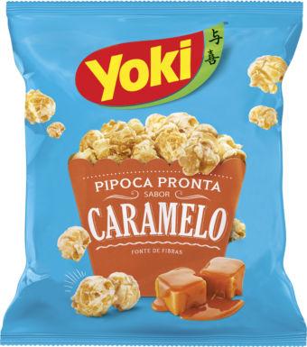 Pipoca pronta sabor caramelo Yoky 50g