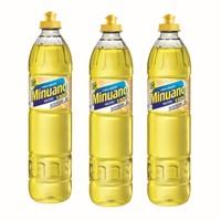 Detergente liquido neutro Minuano 500ml.  (pacote c/ 3 unidades)
