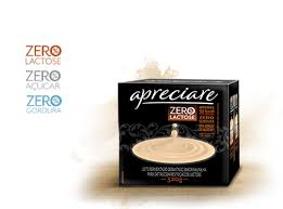 Leite fermentado desnatado zero lactose e açúcar Apreciare 4x80g