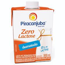 Leite desnatado zero lactose Piracanjuba 500ml