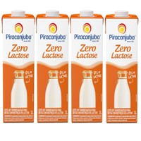Leite semi desnatado zero lactose Piracanjuba 1lt  ( pacote c/ 4 unid.)