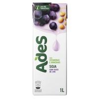 Bebida a base de soja Ades uva 1lt.