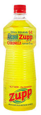 Alcool líquido de citronela 54gl Zupp 1lt