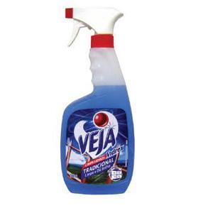 Limpa vidros vidrex tradicional com alcool pulverizador Veja 500 ml.