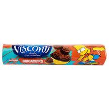 Biscoito recheado brigadeiro Visconti 125g