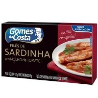 Filé de sardinha ao molho tomate Gomes da  costa 125g